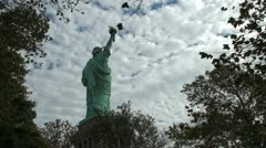 Stock Video Footage of Statue of Liberty REV