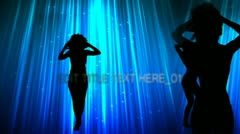 Silhouette Dancers With Text Display - stock after effects