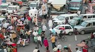 Traffic congestion, Jaipur, India Stock Footage