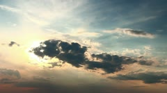 The picturesque sunset (sunrise) and clouds - stock footage