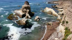 A Beautiful Ocean Cove at Montana de Oro State Park, California Stock Footage