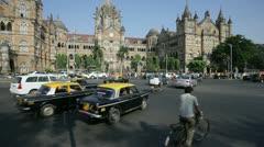 Victoria Terminus, Mumbai, India Stock Footage