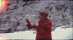 Hiking in the Dolomite Alps in the 1960s (vintage 8mm film) - stock footage