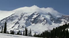 Mt Rainier - stock footage