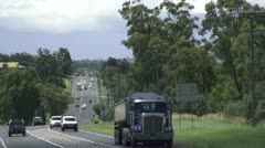 Highway traffic, South Queensland, Australia Stock Footage