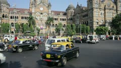 Victoria Terminus, Mumbai, India Stock Footage