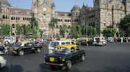 Stock Video Footage of  Victoria Terminus, Mumbai, India