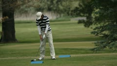 People Golfing 15 Stock Footage