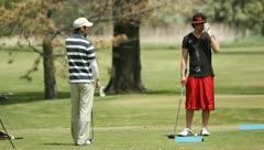 People Golfing 19 Stock Footage