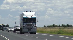 Truck on highway near Dalby QLD Stock Footage