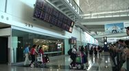 Stock Video Footage of Arrival hall at Hong Kong International Airport