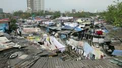 Dhobi Ghats, Mahalakshmi, Mumbai, Asia - stock footage