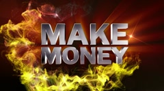 MAKE MONEY Text in Particle (Double Version) - HD1080 - stock footage