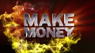 MAKE MONEY Text in Particle (Double Version) - HD1080 Stock Footage