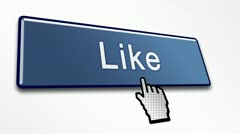 Like Button in 80 International Languages Stock Footage