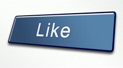 Like Button in 80 International Languages for Social Media Stock Footage