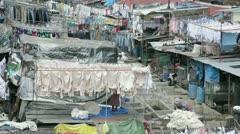 Dhobi Ghats, Mahalakshmi, Mumbai, Asia Stock Footage