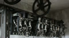 Traction Elevator Mechanism _9 Stock Footage