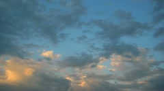 Timelapse with evening cloudy sky Stock Footage