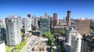 Stock Video Footage of Vancouver Downtown to West End Pan