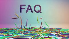 Colorful Crayons and FAQ text, Alpha Stock Footage