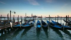 St Mark's Square  San Giorgio Maggiore Island, Venice, Italy Stock Footage
