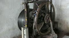 Traction Elevator Mechanism _13 Stock Footage
