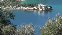 View on bay zoom out Stock Footage
