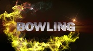 BOWLING Text in Particle (Double Version) - HD1080 Stock Footage
