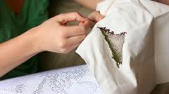 Needlework. Stock Footage