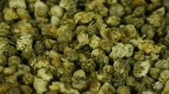 Many herbal chrysanthemum bud. Stock Footage