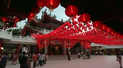 Thean Hou Chinese Temple, Malaysia - stock footage