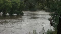 Flood- Queanbeyan river NSW Stock Footage