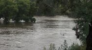 Stock Video Footage of Flood- Queanbeyan river NSW