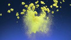 Crushed tablet explosion, Slow Motion Stock Footage