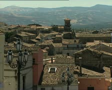 MELFI town view with roofs Stock Footage