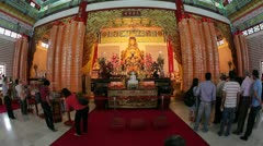 Thean Hou Chinese Temple, Kuala Lumpur - stock footage