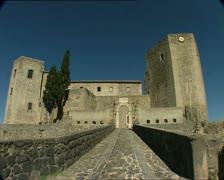 MELFI castle Stock Footage
