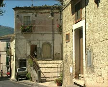 MELFI old houses Stock Footage