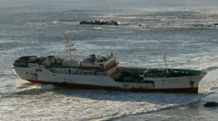 Stranded Ship on Clifton Beach, Cape Town Stock Footage