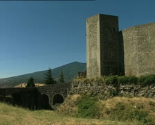 MELFI castle rear pan Stock Footage