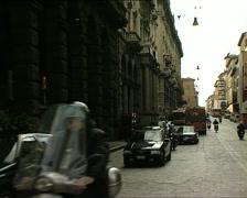 BOLOGNA via rizzoli with traffic Stock Footage