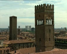BOLOGNA view with towers Stock Footage