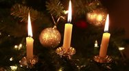 Candle tree lights Stock Footage
