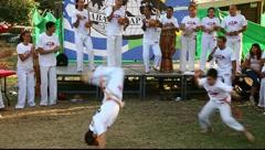 Capoeira kids dancers practice ABADA Capoeira Stock Footage