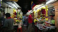 Little India Flower Market, Malaysia, Stock Footage
