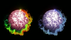 Two Disco Ball in Particle, with Alpha Channel - HD1080 Stock Footage