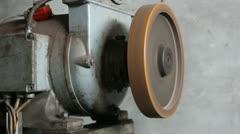 Traction Elevator Mechanism electric motor _4 Stock Footage
