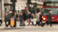 Anonymous pedestrians, busy street, oxford street, london Stock Footage