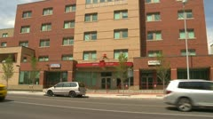 Architecture, Calgary, Salvation Army Hope men's hostel, tilt up Stock Footage